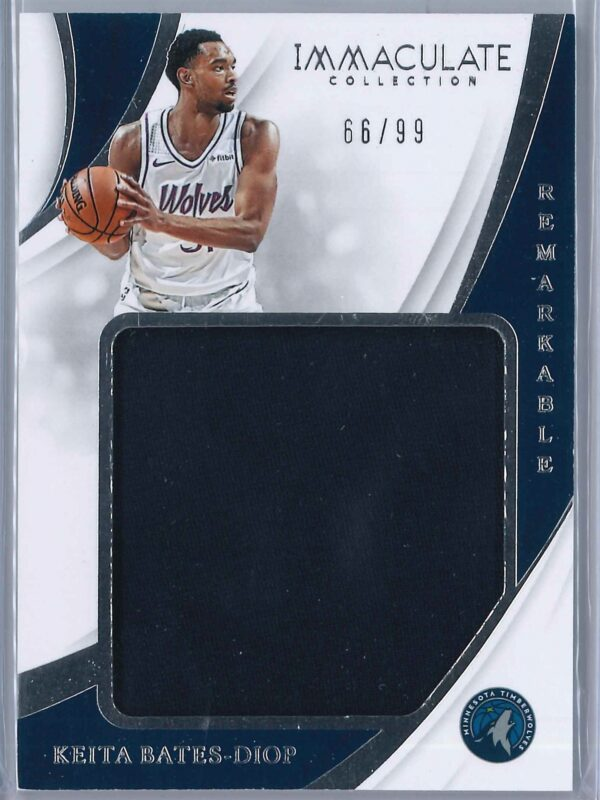 Keita Bates Diop Panini Immaculate 2018 19 Remarkable 6699 Rookie Patch 1 scaled