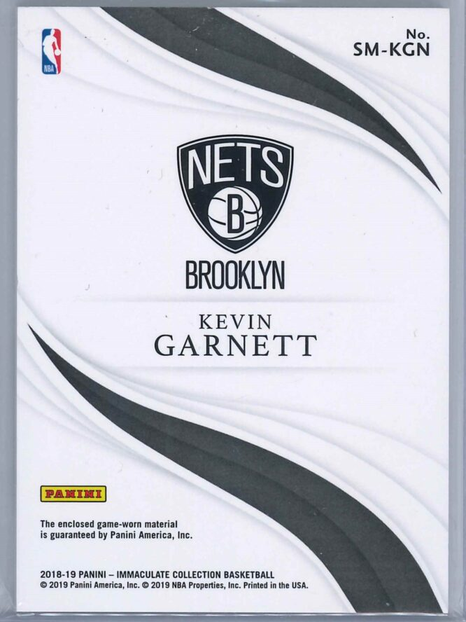 Kevin Garnett Panini Immaculate 2018 19 Standout 0149 4 scaled