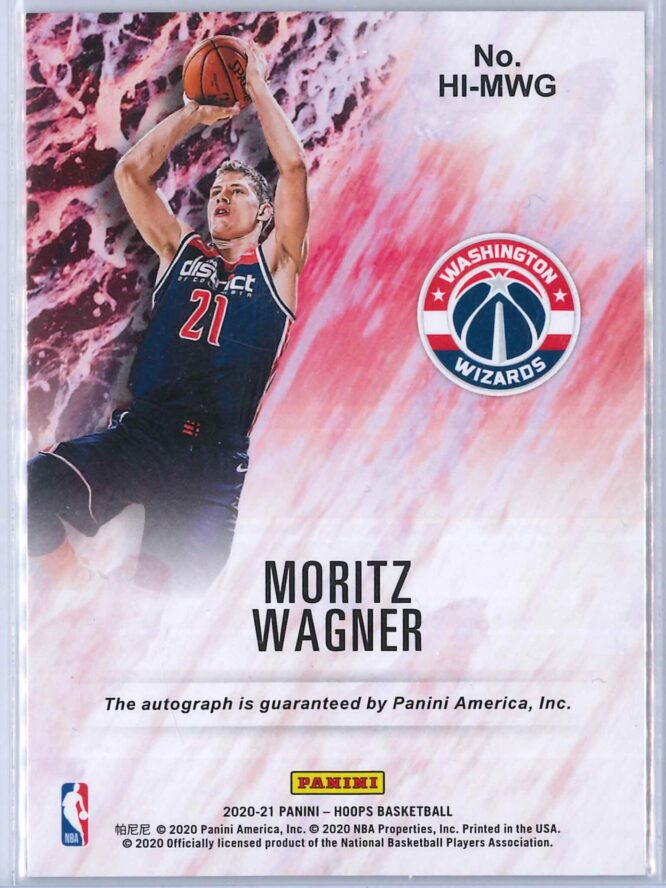Moritz Wagner Panini Hoops 2020 21 Hoops Ink 2 scaled