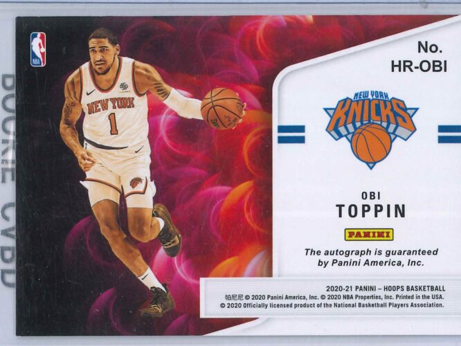 Obi Toppin Panini Hoops 2020 21 Hot Signatures Rookie RC Auto 2 scaled