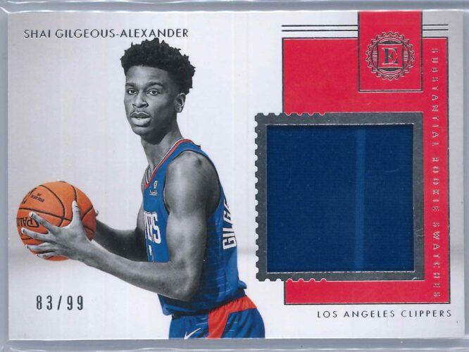 Shai Gilgeous Alexander Panini Encased 2018 19 Patch Substantial Rookie Swatches 8399 1 scaled