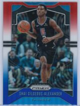 Shai Gilgeous Alexander Panini Prizm 2019 20 Base 2nd Year Red White Blue 1 scaled