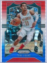 Trae Young 2 Panini Prizm 2019 20 Base 2nd Year Red White Blue 1 scaled