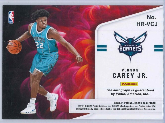Vernon Carey Jr. Panini Hoops 2020 21 Hot Signatures Rookie RC Auto 2 scaled