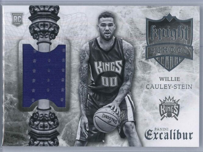 Willie Cauley Stein Panini Excalibur 2015 16 Knight School RC Patch Rookie Patch 1 scaled