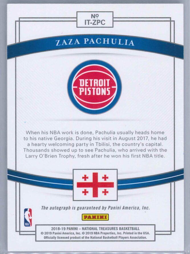 Zaza Pachulia Panini National Treasures 2018 19 Auto International Treasures 9599 2 scaled