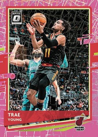 2020 21 Donruss Optic Basketball NBA Cards Base Pink Velocity Trae Young