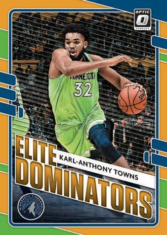 2020 21 Donruss Optic Basketball NBA Cards Elite Dominators Karl Anthony Towns