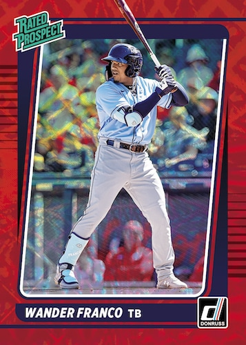 2021 Donruss Baseball Cards Rated Prospect Red Wander Franco