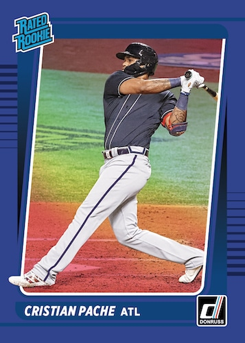 2021 Donruss Baseball Cards Rated Rookie Holo Blue Christian Pache RC