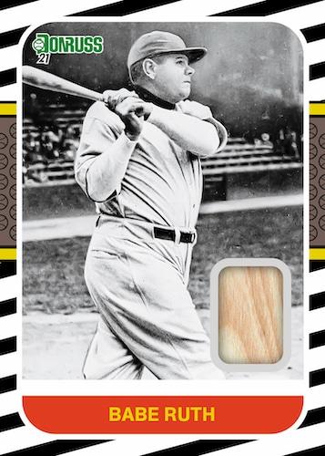 2021 Donruss Baseball Cards Retro 1987 Materials Babe Ruth Bat Relic