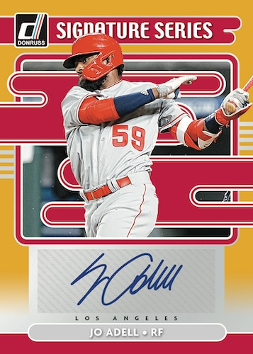 2021 Donruss Baseball Cards Signature Series Gold Jo Adell Auto RC