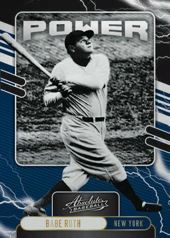 2021 Panini Absolute Baseball Cards Power Babe Ruth
