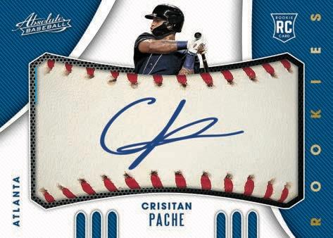 2021 Panini Absolute Baseball Cards Rookies Baseball Material Signatures Cristian Pache RC