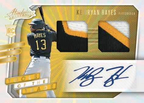 2021 Panini Absolute Baseball Cards Tools of the Trade Signatures 2 Swatch KeBryan Hayes RC RPA
