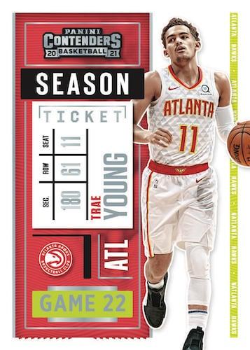 2020 21 Panini Contenders Basketball NBA Cards Base Season Ticket Trae Young 1
