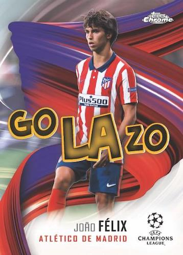 2020 21 Topps Chrome UEFA Champions League Soccer Cards Golazo Joao Felix