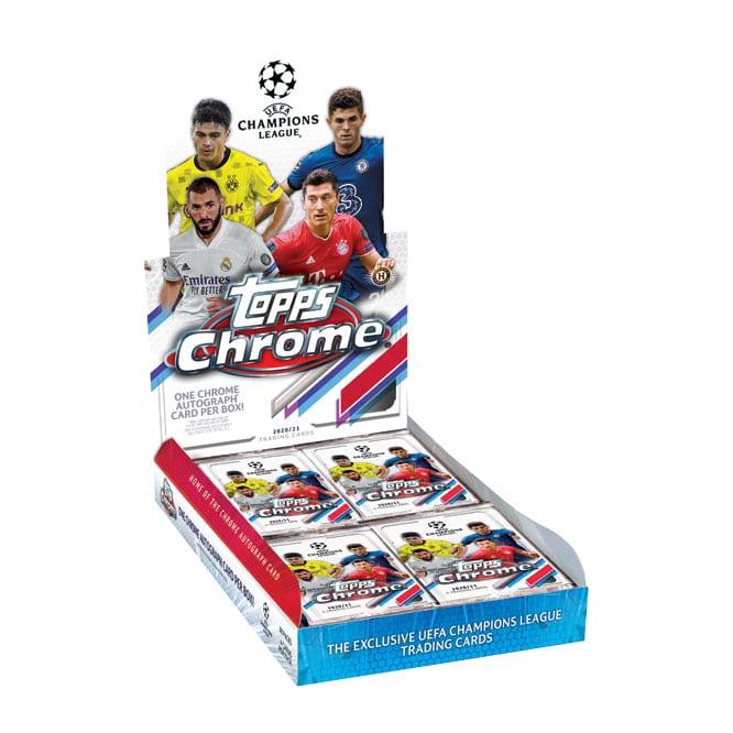 2020 21 Topps Chrome UEFA Champions League Soccer Cards Hobby Box
