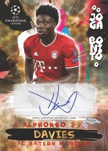 2020 21 Topps Chrome UEFA Champions League Soccer Cards Joga Bonito Autograph Alphonso Davies
