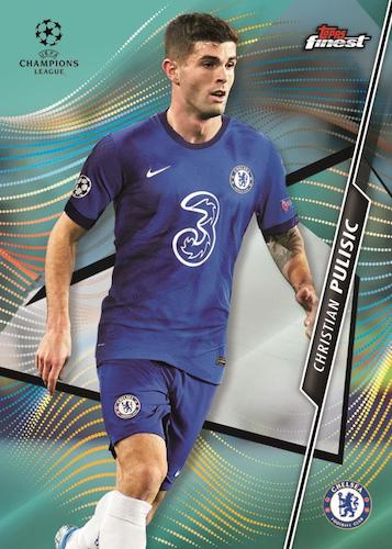 2020 21 Topps Finest UEFA Champions League Soccer Cards Base Aqua Refractor Christian Pulisic