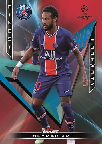 2020 21 Topps Finest UEFA Champions League Soccer Cards Finest Footwork Red Refractor Neymar Jr