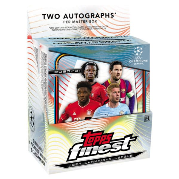 2020 21 Topps Finest UEFA Champions League Soccer Cards Master Box