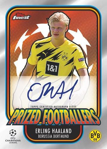 2020 21 Topps Finest UEFA Champions League Soccer Cards Prized Footballers Autographs Erling Haaland Auto