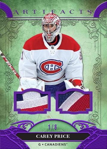 2020 21 Upper Deck Artifacts Hockey Cards Base Material Purple Relic Carey Price