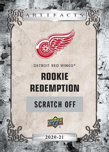 2020 21 Upper Deck Artifacts Hockey Cards Rookie Redemption Red Wings