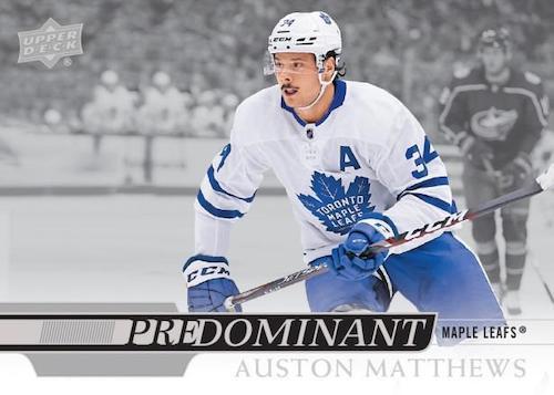 2020 21 Upper Deck Series 1 Hockey Cards Predominant Auston Matthews
