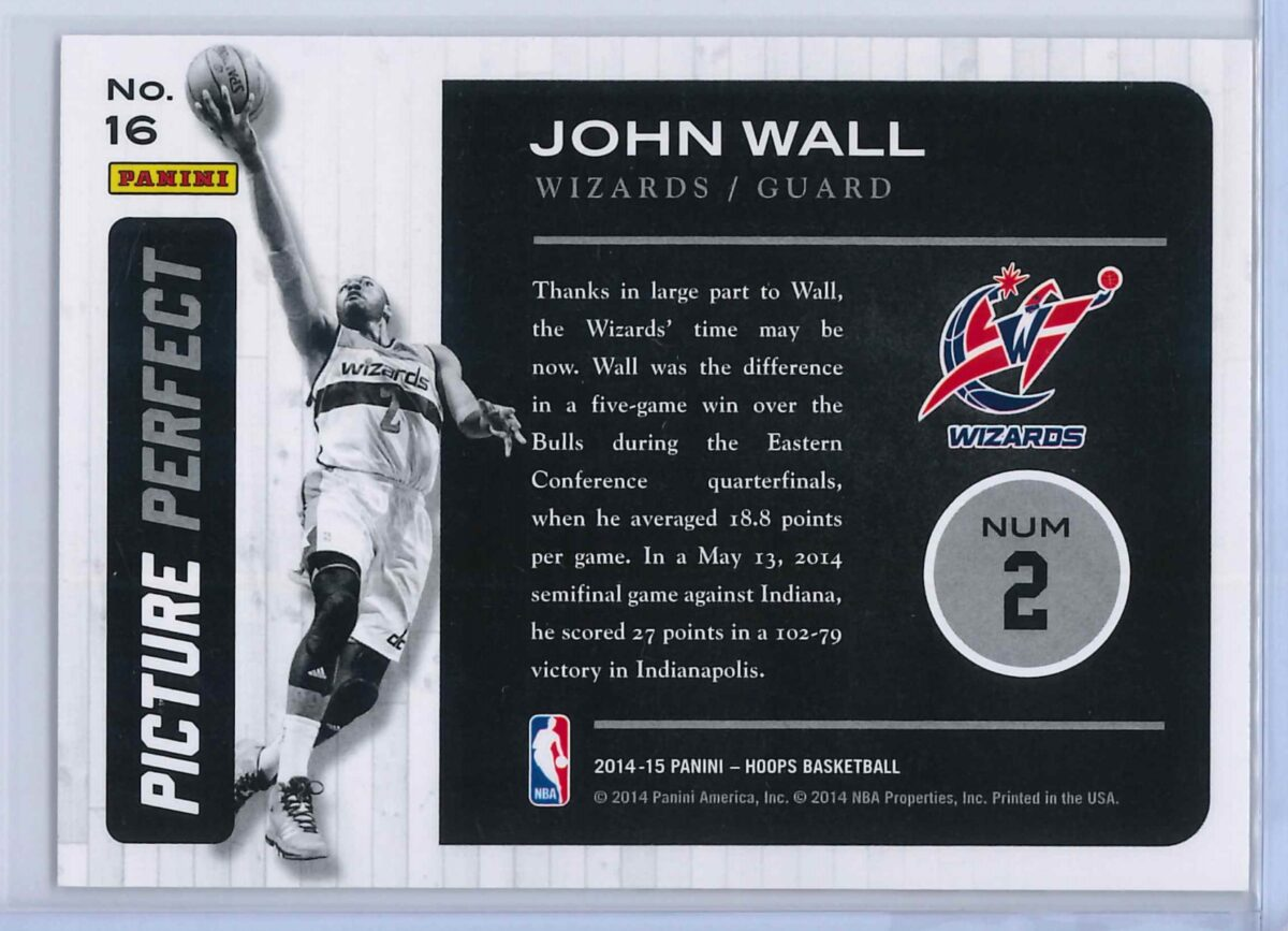 John Wall Panini Hoops Basketball 2014 15 Picture Perfect 2