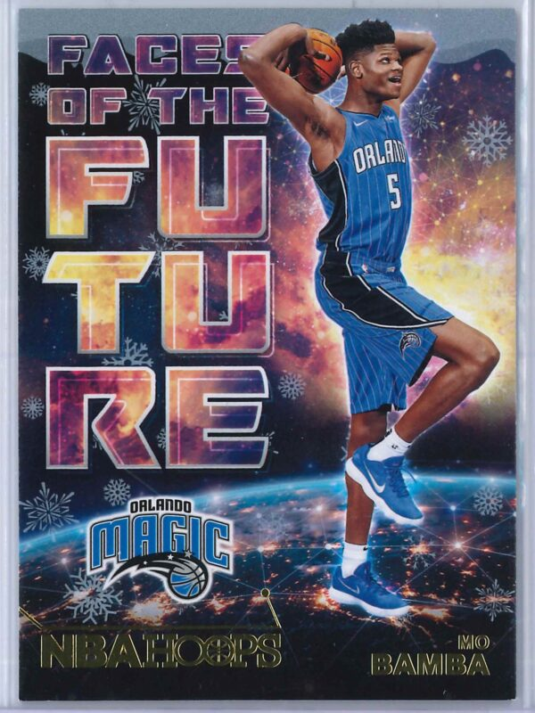 Mo Bamba Panini Hoops Basketball 2018 19 Faces Of The Future Gold Winter 1 scaled