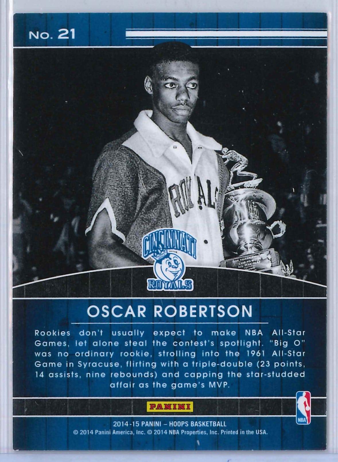 Oscar Robertson Panini Hoops Basketball 2014 15 High Honors 2