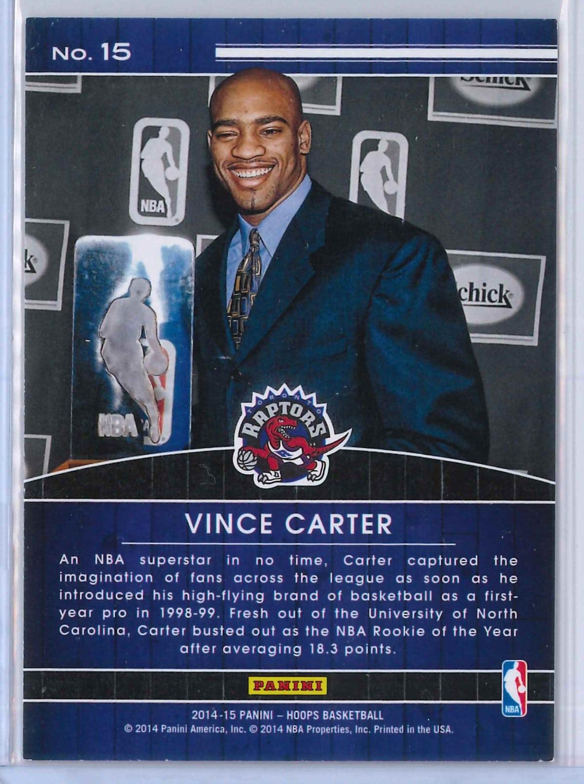 Vince Carter Panini Hoops Basketball 2014 15 High Honors 2