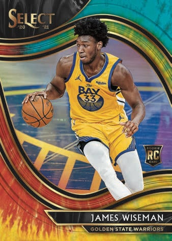 2020 21 Panini Select Basketball Cards Courtside Tie Dye Prizm James Wiseman RC 1