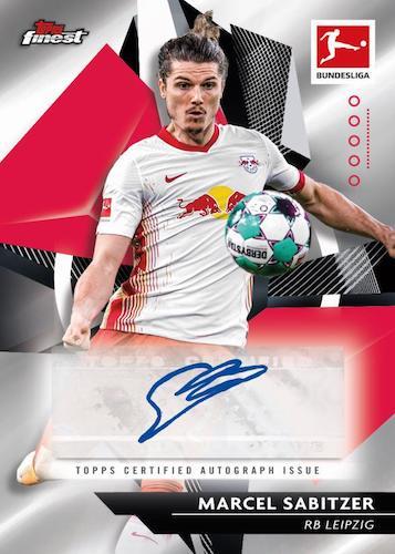2020 21 Topps Finest Bundesliga Soccer Cards Base Autograph Marcel Sabitzer auto