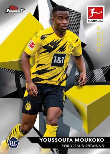 2020 21 Topps Finest Bundesliga Soccer Cards Base Rookie Youssoufa Moukoko RC