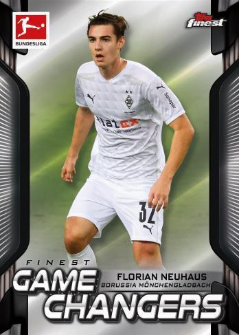 2020 21 Topps Finest Bundesliga Soccer Cards Finest Game Changers Florian Neuhaus