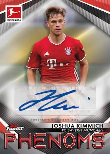 2020 21 Topps Finest Bundesliga Soccer Cards Finest Phenoms Autograph Joshua Kimmich