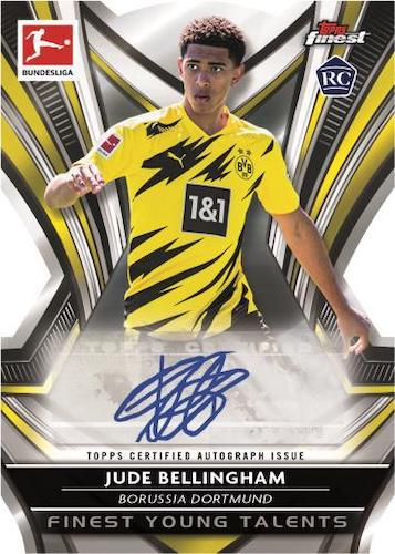 2020 21 Topps Finest Bundesliga Soccer Cards Finest Young Talents Autograph Jude Bellingham RC auto