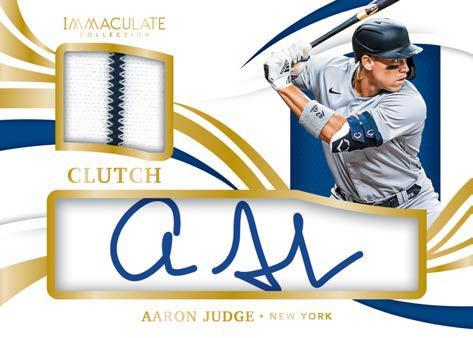 2021 Panini Immaculate Collection Baseball Cards Clearly Clutch Materials Autograph Aaron Judge