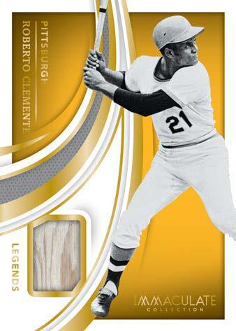 2021 Panini Immaculate Collection Baseball Cards Legends Materials Roberto Clemente