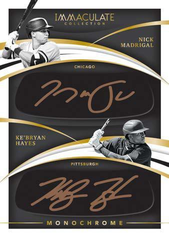 2021 Panini Immaculate Collection Baseball Cards Monochrome Duals Autograph RC