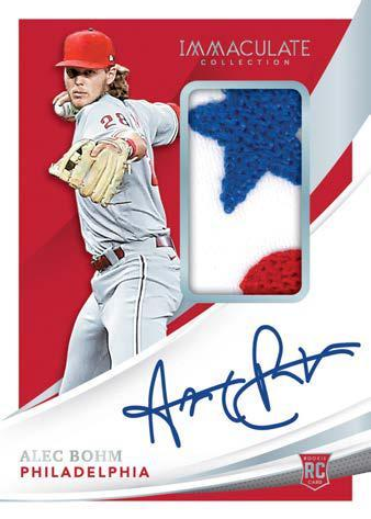 2021 Panini Immaculate Collection Baseball Cards Rookie Patch Autographs Alec Bohm RPA RC Holo Silver