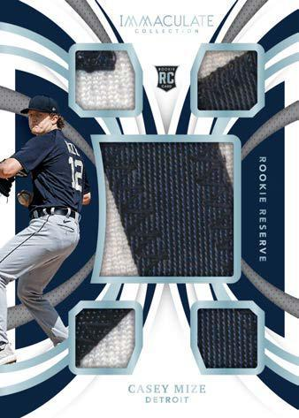 2021 Panini Immaculate Collection Baseball Cards Rookie Reseve Nameplate Casey Mize RC