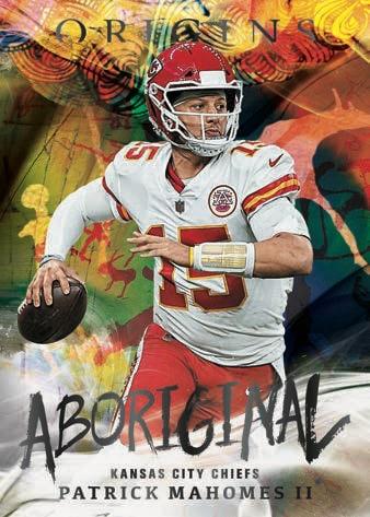 2021 Panini Origins Football NFL Cards Aboriginal Patrick Mahomes 1