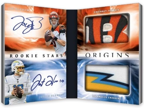2021 Panini Origins Football NFL Cards Rookie Stars Dual Patch Signatures