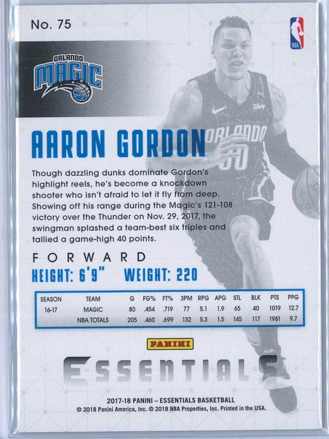 Aaron Gordon Panini Essentials 2017 18 Green 2