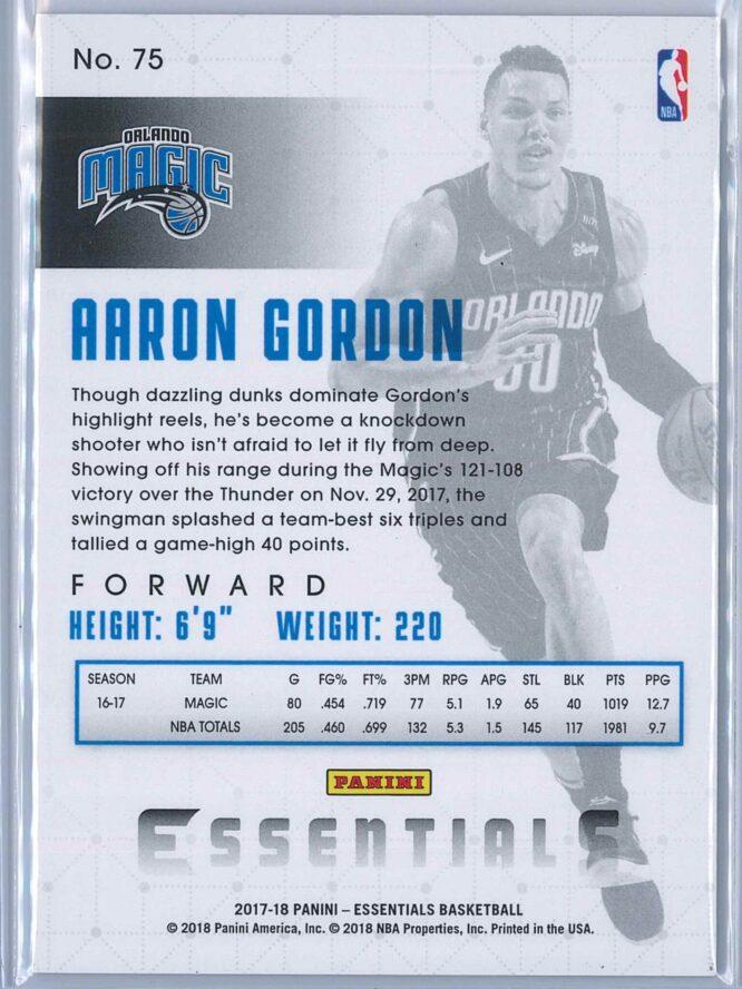 Aaron Gordon Panini Essentials 2017 18 Spiral 2