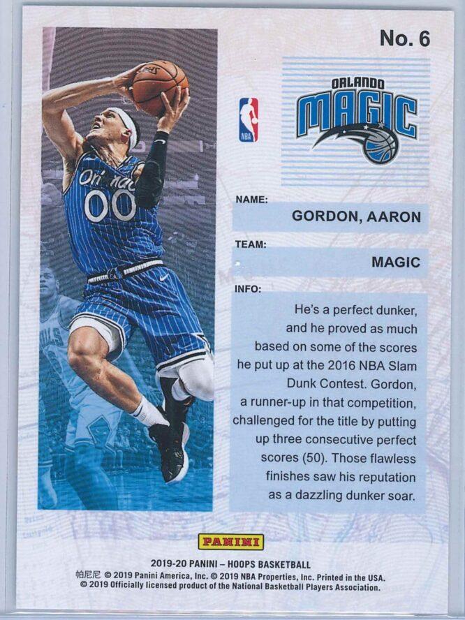 Aaron Gordon Panini NBA Hoops Basketball 2019 20 Frequent Flyers 2